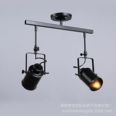 Retro bar ufficio industriale abbigliamento negozio showroom lampada doppia testa III capo IV testa led lampada 200 (mm) , double wall lamp