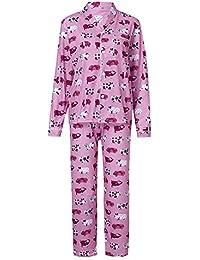 Pijama de la Familia, Muchachas de Las Mujeres Cerdo Lindo Imprimir Tops + Pantalones Trajes 2 Piezas de Manga Larga Homewear