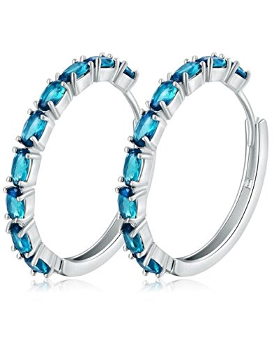 Karatcart Platinum Plated Trendy Elegant Austrian Crystal Hoop Earring Set For Women