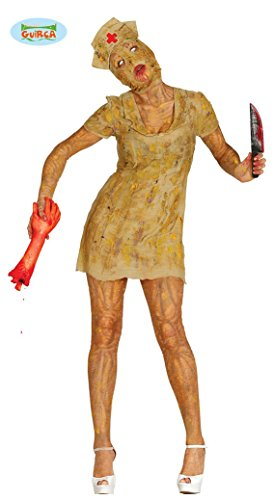 verätzte Horror Krankenschwester Halloween Zombie Bio Kostüm für Damen Tombiekostüm Damenkostüm Halloweenkostüm Horror Gr. M-L, (Zombie Kostüm Bio)