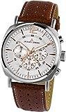 Jacques Lemans Men's Brown Case Quartz Chronograph Watch 1-1645.1D