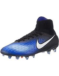 Nike Herren Fußballschuhe Magista Orden II (FG) Firm-Ground Football Boot Schwarz/Blau