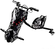 Limodo 3-wheel Electric Drift Scooter Black/White 36V with Helmet Pad set, Knee and Elbow Pads 36V, E400