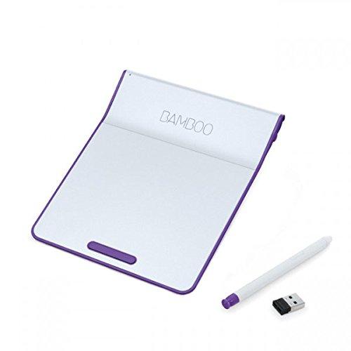 Wacom Bamboo Pad Wireless inkl. Stift CTH-300U (Trackpad & Touchpad für Windows & Mac) Weiß-Violett (Touchpad Bamboo Wireless)