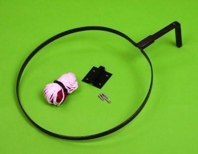 Nuevo Indoor/Outdoor Netball objetivo soporte montado en la pared anillos y redes por par