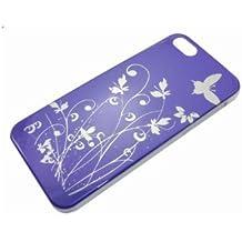 Zafoorah - carcasa híbrida de flores y mariposas GARDEN Funda Carcasa para Apple iPHONE 5 G
