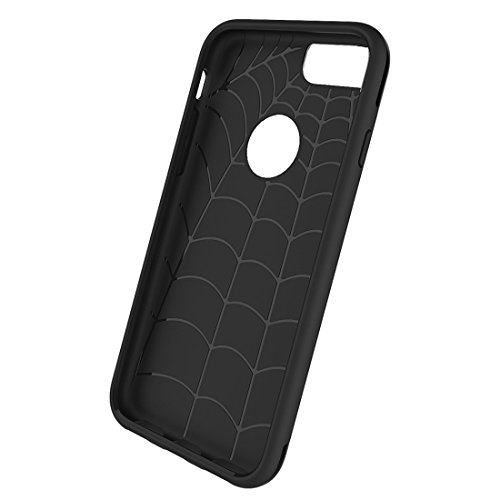 MXNET Case für iPhone 6 & 6s, Einfache Brushed Texture 2 in 1 PC + TPU Combination Schutzhülle ,Iphone 6/6s Case ( Color : Grey ) Black