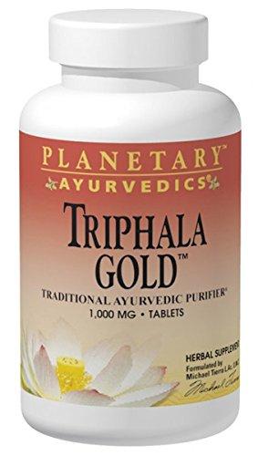 Planetary Herbals | Ayurveda | Triphala Gold | 1.000 mg | 120 vegane Tabletten