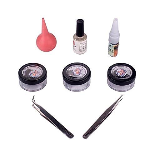 Faux Cils Naturels Avec Colle Applicateur De Cils + Colle Kit à Maquillage -3 Pair Of 8/10/12mm Faux Cils Fantaisie