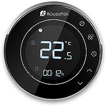 Termostato Wifi, Houzetek Termostato Inteligente Programable con Sensor para Control de APP Inteligente, Termostato