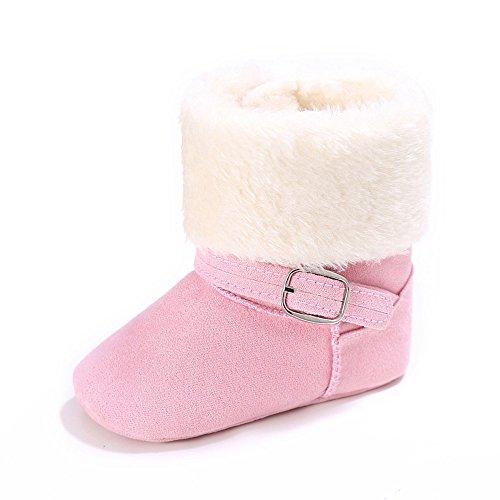Rosa Winter-schnee-stiefel (Estamico Kleinkind Baby M?dchen Rutschfest Weiche Sohle Schnee Stiefel Winter Warme Schuhe Rosa 6-12 Monate)