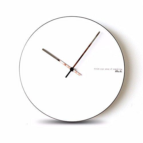 Y-aime.camera da letto creativo muto orologio da parete orologio soggiorno moderno moda quarzo (12 pollici),nero