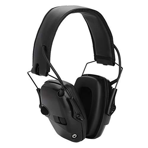 Schießen Ohrenschützer, Faltbare und Komfortabler Lärmschutz Kopfhörer Sport Elektronischer Gehörschutz für Jagd und Schießen(schwarz)