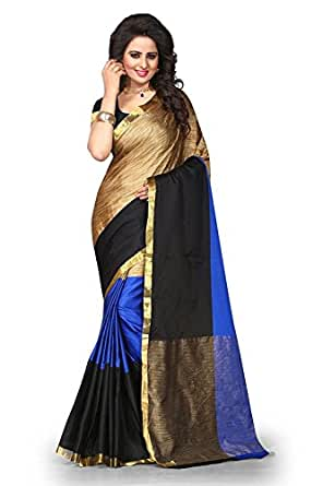 Kesar Fashion Cotton Silk Saree (Ak_Blue_Blue)