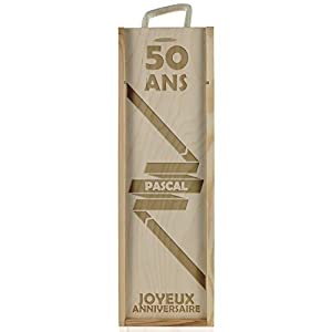 Personnalised Wine Box for birthday - model Ribbon by Amikado