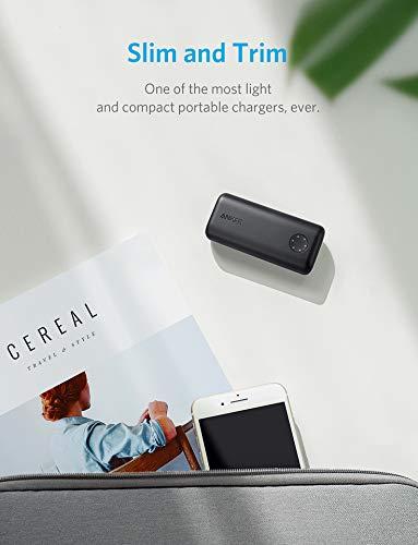 Anker PowerCore II 6700mAh Kompakte Powerbank, externer Akku für iPhone X / 8/8 Plus / 7/6 / 6 Plus, Samsung Galaxy und Weitere Geräte(Schwarz)