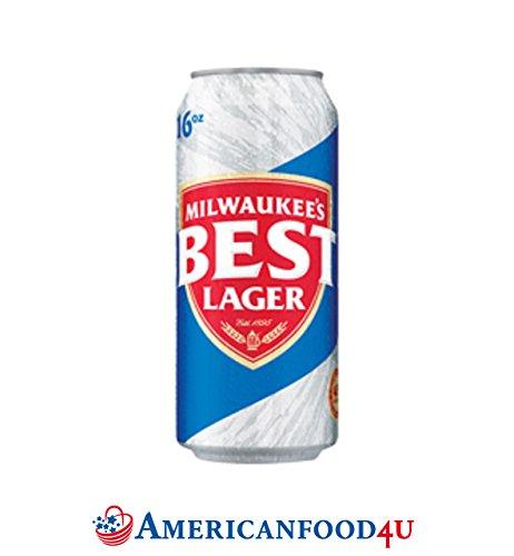 AMERICANFOOD4U® Biere - Milwaukee's Best Lager Dose | 6er Pack | 6 x 355ml amerikanisches Bier | Die Original Importware aus den USA als perfektes Geschenk für Männer | Das trocken herbe Lagerbier aus Amerika - Für Deine amerikanische Grillparty, dein Barbecue (BBQ) mit Freunden oder als perfektes Getränk für die nächsten NFL, NBA oder MLB Playoffs | Das tiefgoldene Bier mit leichtem Apfelduft - Jetzt bei Dir zu Hause! [+GRATIS Dosenkühler]