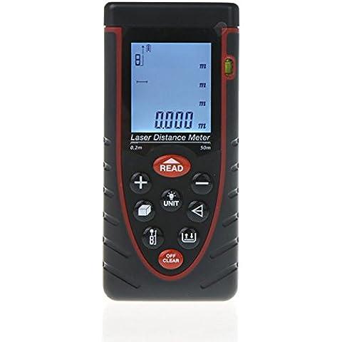 Anford RZ50 50m 164ft Distanza Misuratore Tester Bubble Level Rangefinder Tape Measure - Vento Rilevatore