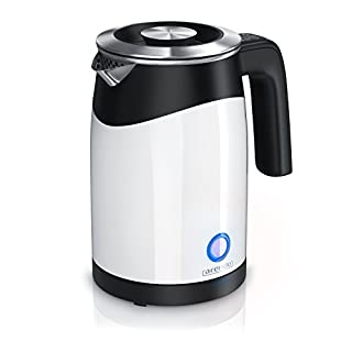 Arendo - 0.5l Stainless Steel Water Kettle with Temperature Control Double Walled Design | 0.5l Water Fill Level Scale| 5 Temperature Values Selectable | Keep Warm Function | Energy Saving