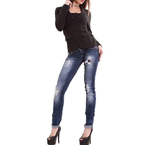 Giacca donna felpata cotone maniche lunghe avvitata bottoni nuova CC-1113[Bordeaux,S] Nero