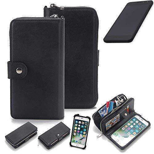 K-S-Trade 2in1 Handyhülle für Shift Shift5.3 Schutzhülle & Portemonnee Schutzhülle Tasche Handytasche Case Etui Geldbörse Wallet Bookstyle Hülle schwarz (1x)