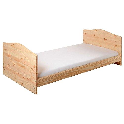 Kinderbett Jugendbett Kuba VOLLMASSIV 140x70 cm - 5