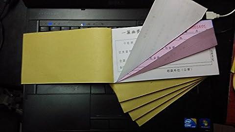 Custom Print Lieferung Rechnung/Zahlung Beleg Bücher, Shamballakugeln size17.5X 9,5cm 2-teilig, kohlenstofffreies Papier Beleg Rechnung Bücher 50Sets