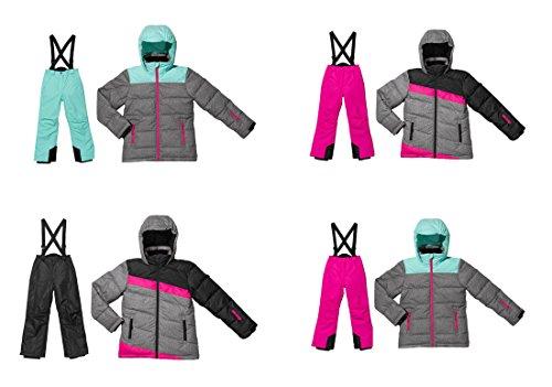 Kleinkinder Skianzug 2 tlg Skianzug Mädchen Schneeanzug Winteranzug Wind- und wasserdichtes