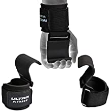 Ultra® Peso Levantamiento Gimnasio Correas De Agarre De Gancho Muñeca Apoyo de entrenamiento guantes culturismo