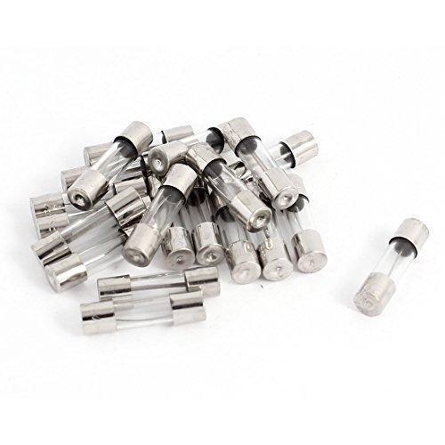 Preisvergleich Produktbild 250 V 25A F25AL Quick Blow Glasröhrchen-Flachsicherungen, 5 x 20 mm, 20 Stück