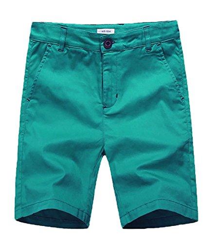 basadina Jungen Einfarbig Shorts Schuluniform Shorts Ausgestattet mit Einstellbare Taille Elastisch, 4-12 Jahre Alt (4 Farben Zu Wählen)