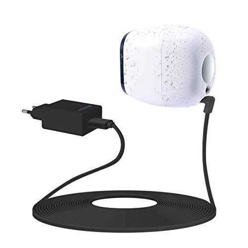 LANMU Netzteil Adapter Ladegerät für Arlo Pro mit USB Ladekabel Zubehör kompatibel mit Arlo Pro VMS4330/Arlo Pro 2 VMC4030P/Arlo Go Überwachungskamera Arlo Security Light (Ladeadapter und 5m Kabel)