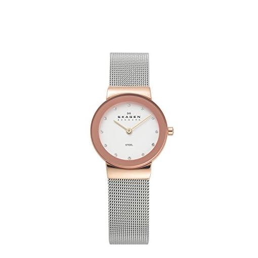 41kkuM 7WsL. SS510  - Skagen 358SRSC White Dial Unisex watch