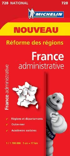Carte France Départementale et Administrative Michelin