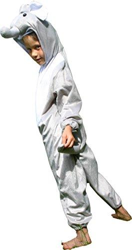 Fun Play Kostüm Elefant Tier onesies- Tierkostüm für Kinder von 3-5 Jahren (110 cm) Größe ()