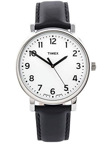 Timex Damen-Armbanduhr Weiß Quarz Leder T2N338D7 (Timex-easy-reader-schwarz-leder)