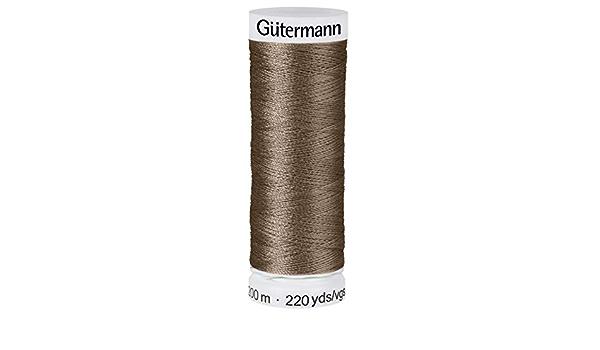 G/ütermann 100/% PES colore: tortora 200 m Filo da cucito