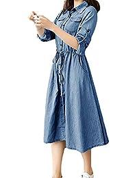 bcce18c3876c Amazon.it  Vestito jeans - Chemisier   Vestiti   Donna  Abbigliamento