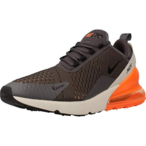 Nike Men's Air MAX 270 Shoe, Hombre, Multicolor (Thunder Grey/Negro/Desert Sand 024), 44 EU