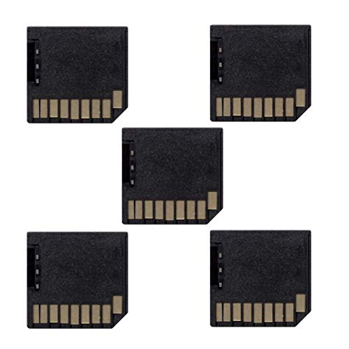 Cablecc Mini Adapter Micro SD TF auf SD Card Kit Mini Adapter Low Profile für zusätzlichen Speicher MacBook Air/Pro/Retina, Schwarz, 5 Stück (Flash-speicher Low-profile)