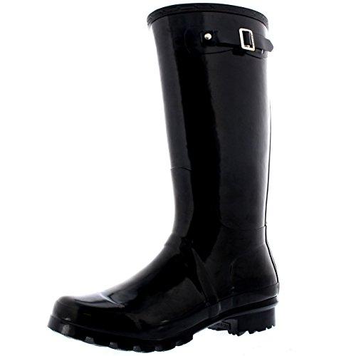 polar-damen-wasserdicht-extra-breit-hoch-regen-gummistiefel-hund-zu-fuss-sitefel-schwarz-glanz-uk5-e