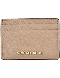 1bf420fd5c8e9 MICHAEL Michael Kors Women's Pebbled Leather Card Case Truffle