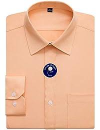 645360306f4361 J.VER Camicie da Uomo vestibilità Regolare Manica Lunga Solido Collare  Camicie Formali Aziendali