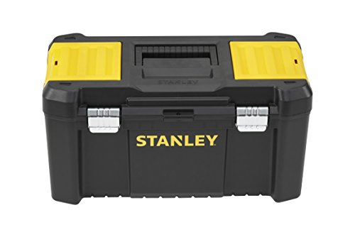 """Preisvergleich Produktbild Stanley Werkzeugbox / Werkzeugkasten (19"""", 48.2x25.4x25cm, Beladung bis zu 8kg, Werkzeugkoffer mit Metallschließen, Organizer mit entnehmbarer Trage, robuster Koffer aus Kunststoff) STST1-75521"""
