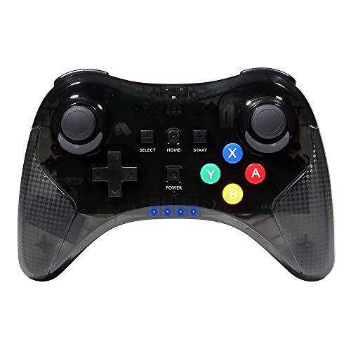 Wetoph Wii U Pro Controller GD26 Dual Analog Wireless Bluetooth Joystick Fernbedienung Controller mit USB-Kabel für Nintendo Wii U Schwarz (Von Dritteranbieter) …