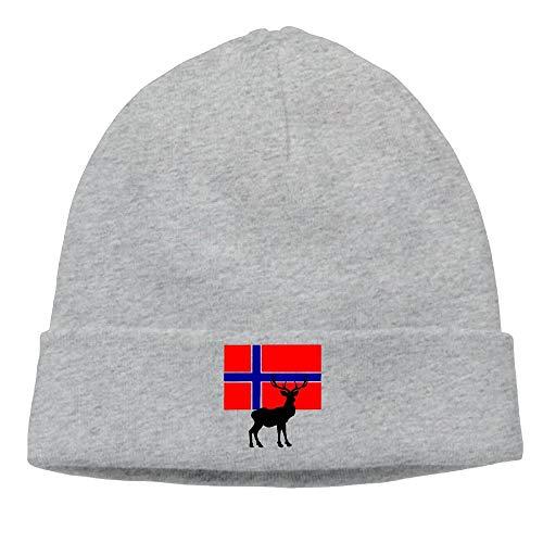 Hoklcvd Bandera Noruega Ciervos Unisex Lana Flock