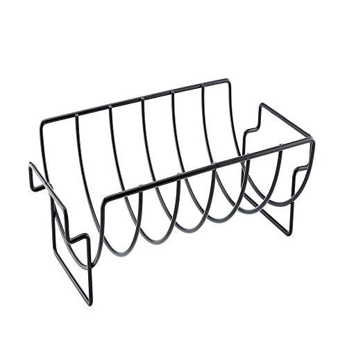 Eisen Rippe Rack Traeger Grill Barbecue BBQ Zubehör Mehrzweck Outdoor Grillen Huhn Rindfleisch Rack Küche Fleisch Geflügel Werkzeuge (Rippen Rack)