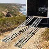 Auffahrrampe ALU 340 kg Klappbar Auffahrschiene Anhängerrampe Verladeschiene - 6