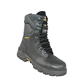 Aimont Forerunner Combat Boots S3 CI HI HRO SRC Safety Shoes Trekking Shoes Boots Black, Size:45 EU