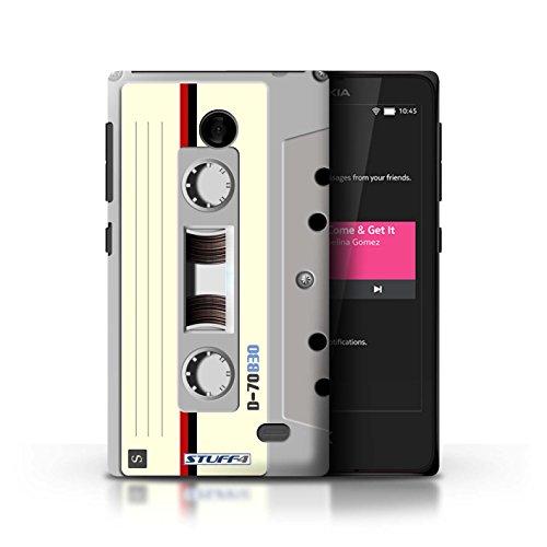 Kobalt® Imprimé Etui / Coque pour Nokia X / Cassette Vidéo VHS conception / Série Retro Tech Compact Cassette Audio